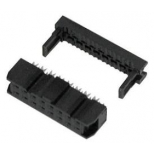 FLAT CABLE-IDC SOCKET 16-POS