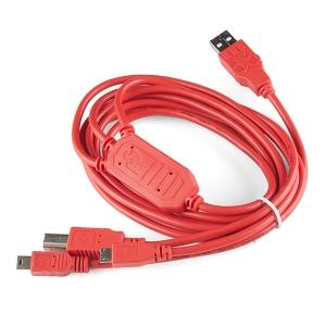 SparkFun Cerberus USB adapter, USB-B, Mini-B, Micro-B, 1.8m