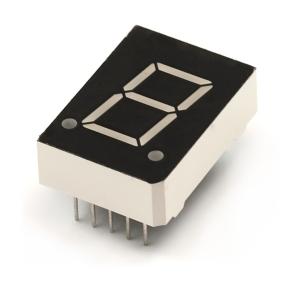 7-segment LED displei, 15mm, sinine
