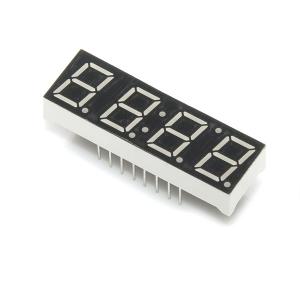 7-segment LED displei, 4 kohta, 10mm, punane