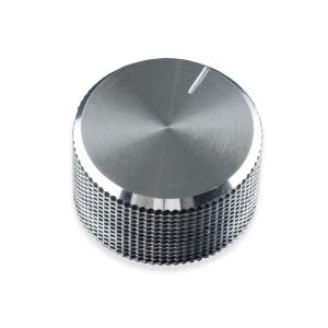 Potentsiomeetri nupp, 14 x 24mm, metall, hõbedane