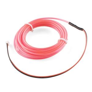 Elektroluminestsents kaabel, roosa, 3m