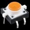 Mikrolüliti trükkplaadile, LED valgusega, oranž