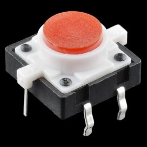 Mikrolüliti trükkplaadile, LED valgusega, punane