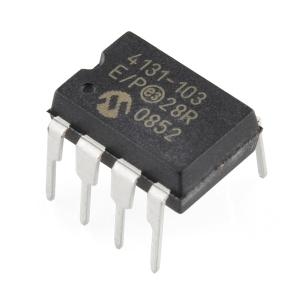 MCP4131 - 10k digital potentsiomeeter, DIP-8