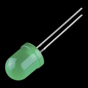 LED 10mm, roheline, matt lääts
