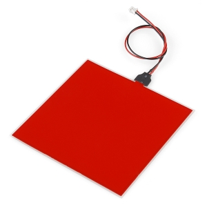 Elektroluminestsents paneel, punane, 10 x 10cm