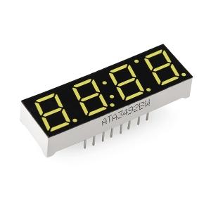 7-segment LED displei, 4 kohta, 10mm, valge