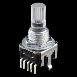 Pöörd-enkooder, 24 astet, LED valgusega võll, RGB