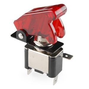 Tumblerlüliti, LED indikaatori ja kattega, punane