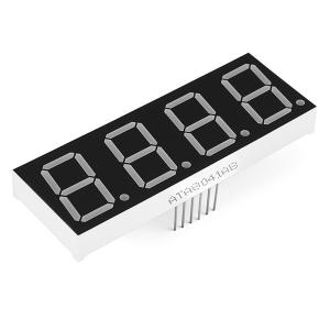 7-segment LED displei, 4 kohta, 20mm, roheline
