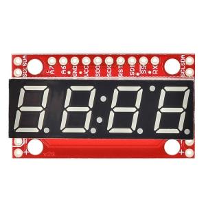7-segment LED displei serial draiveriga, 4 kohta, 10mm, punane