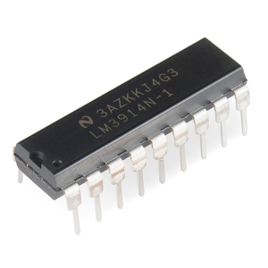 LM3914 - LED displei draiver, DIP-18