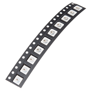 WS2812B - NeoPixel RGB LED, SMD, 10 tk