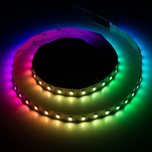 LED riba, RGB Digital, I2S, 60 LED/m, 5V, 1m