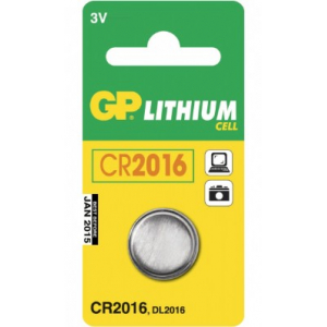Liitiumpatarei 3V 20 x 1,6mm CR2016  GP