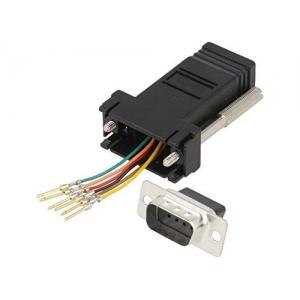 Transition: adapter; RJ11 socket, D-Sub 9pin male