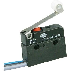Mikrolüliti rulliga 6A 250VAC SPDT IP67 juhtmetega