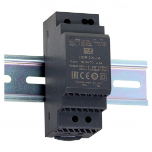 Toiteplokk DIN-liistule 30W 18~75V - 12V 2.5A -30 kuni 70C°