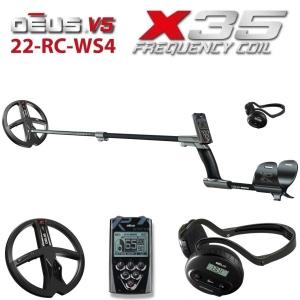 Metallidetektor XP DEUS X35 22-RC-WS4 ENG _ RUS, juhtpult, juhtmeta kõrvaklapid WS4