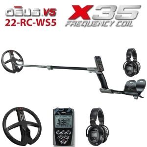 MetallidetektorXP DEUS X35 22-RC-WS5 ENG _ RUS, juhtpult, juhtmeta kõrvaklapid WS5