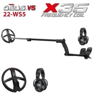 Metallidetektor XP DEUS X35 22-WS5 ENG _ RUS, juhtmeta kõrvaklapid WS5, (ilma juhtpuldita)