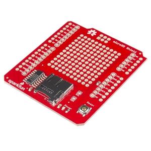 SparkFun microSD Shield - makettplaat MicroSD kaardi pesaga