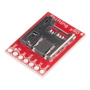 Sparkfun MicroSD kaardi pesa, nivookonverteriga