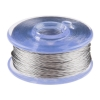 Conductive Smooth Thread Bobbin - 12m (Stainless Steel)