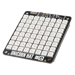 Pimoroni Unicorn HAT - 8x8 RGB LED displei Raspberry´le