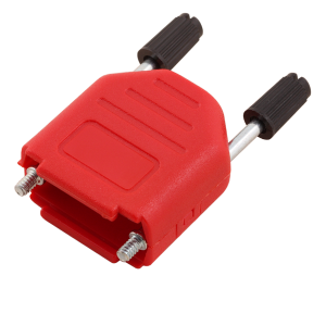 DSUB HOOD 15PIN RED, PLASTIC