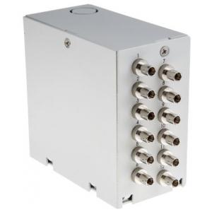 FO DIN-rail karp 12xST multimode adapteritega
