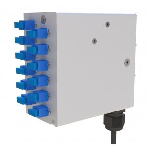FO DIN RAIL karp 12 sc multimode adapteritega