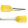 Juhtmehülss 1,0mm², isoleeritud, kollane, L=8,2mm