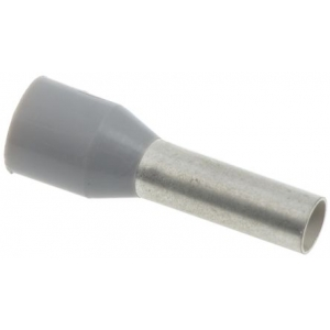 Juhtmehülss 4,0mm², isoleeritud, hall, L=9,0mm
