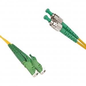 FO jätkukaabel singlemode E2000/APC-FC/APC duplex 1.0m