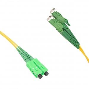 FO jätkukaabel singlemode E2000/APC-SC/APC duplex 1.0m