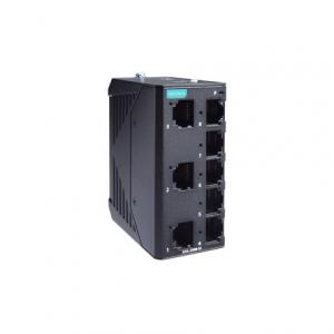 Switch: 7 x 10/100BaseT(X), 1x 10/100BaseF(X) ST SC -10 kuni 60°C, mittemanageeritav, metallist DIN