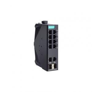 Switch: 8 x 10/100BaseT(X), 2 x 10/100/1000BaseT(X) või 2 x 10/100/1000Base SFP, -40 kuni 75°C, mittemanageeritav DIN