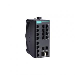 Switch: 16 x 10/100BaseT(X), 2 x 10/100/1000BaseT(X) või 2 x 10/100/1000Base SFP, -40 kuni 75°C, mittemanageeritav DIN