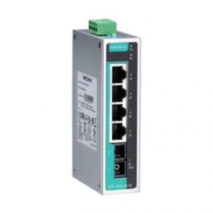 Switch: 4 x 10/100BaseT(X), 1 x 100BaseFX single-mode SC, -10 kuni 60°C, mittemanageeritav DIN
