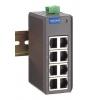 Switch: 8 x 10/100BaseT(X) ports, -10 kuni 60°C, mittemanageeritav, plastikust DIN