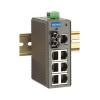 Switch: 7 x 10/100BaseT(X), 1 x 100BaseFX multi-mode ST, -10 kuni 60°C, mittemanageeritav, plastikust DIN