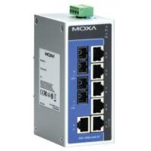 Switch: 6 x 10/100BaseT(X), 2 x 100BaseFX single-mode SC, -40 kuni 75°C, mittemanageeritav, plastikust DIN