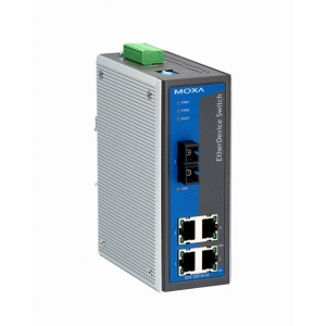 Switch: 4 x 10/100BaseT(X), 1 x 100BaseFX multi-mode SC, 0 kuni 60°C, mittemanageeritav DIN