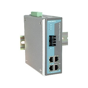 Switch: 4 x 10/100BaseT(X), 1 x 100BaseFX multi-mode SC, -40 kuni 75°C, mittemanageeritav DIN