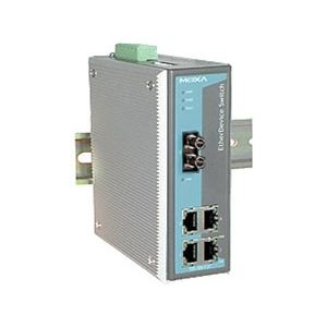 Switch: 4 x 10/100BaseT(X), 1 x 100BaseFX multi-mode ST, 0 kuni 60°C, mittemanageeritav DIN