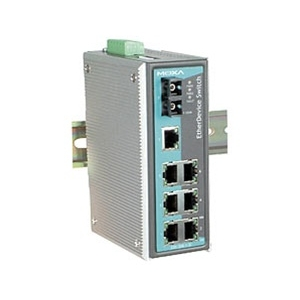 Switch: 7 x 10/100BaseT(X), 1 x 100BaseFX single-mode SC, 0 kuni 60°C, mittemanageeritav DIN