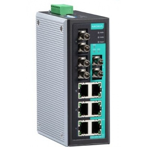 Switch: 6 x 10/100BaseT(X), 3 x 100BaseFX multi-mode SC, -40 kuni 75°C, mittemanageeritav DIN