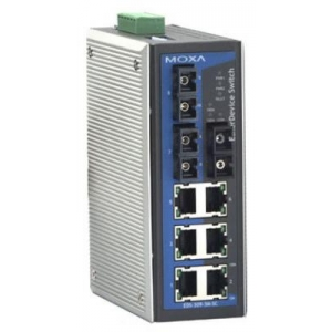 Switch: 6 x 10/100BaseT(X), 3 x 100BaseFX multi-mode ST, 0 kuni 60°C, mittemanageeritav DIN